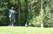 Grūto park. Lenin statue that stood in Vilnius