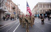 US Troops on the Gediminas Av. in Vilnius