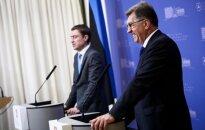 Estonian PM Taavi Roivas and Lithuanian PM Algirdas Butkevičius