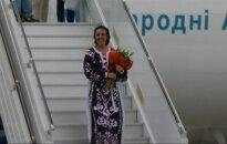 """Po pergalės """"Eurovizijoje"""" Jamala Ukrainoje buvo sutikta kaip didvyrė"""