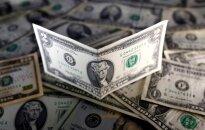 Augant palūkanų normų kėlimo tikimybei, doleris išlieka stiprus