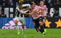Claudio Marchisio (Juventus) ir Illja Nestorovski (Palermo)