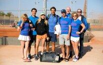 Rafaelis Nadalis su lietuvių teniso entuziastais / Foto: balzekastennis.lt