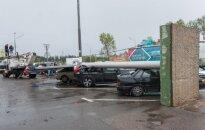 Maskvai smogęs škvalas Šeremetjevo oro uoste apgadino kelis lėktuvus