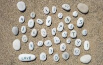 Letters on the stones