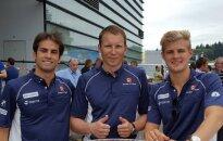 Andrius Šerkšnas ir F-1  Sauber komandos pilotai