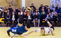 Vilniaus Kolegijos-Flamingo Volley tinklininkai (dešinėje) kovoja Baltijos čempionų lygoje (A. Četkausko nuotr.)