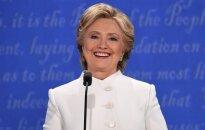 H. Clinton toliau tolsta nuo D. Trumpo