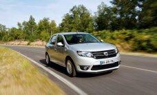 """Vienas pigiausių automobilių rinkoje """"Dacia Logan"""" jau parduodamas Lietuvoje"""