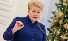 D. Grybauskaitė: Lietuva atrodo neblogai, bet yra ir nerimą keliančių dalykų