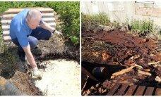 Užfiksuota didžiulė tarša: pavojingos atliekos piltos tiesiog į gruntą