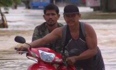 Po Filipinuose praūžusio taifūno prasidėjo galingas potvynis