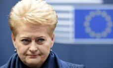 Lietuvos Vyriausybei – D. Grybauskaitės kritika iš Briuselio