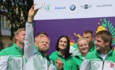Į Baku išlydėtos Lietuvos delegacijos smaigalyje – du olimpiniai prizininkai
