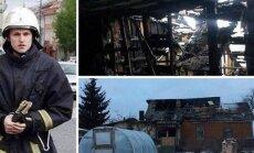 Ugniagesio Ernesto Snežko namus pasiglemžė gaisras