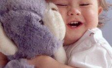 žaidimas, vaikas, kūdikis, meškutis
