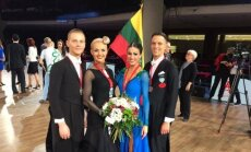 Evaldas Sodeika, Ieva Žukauskaitė, Vaidotas Lacitis, Veronika Golodneva (dancesport.lt nuotr.)