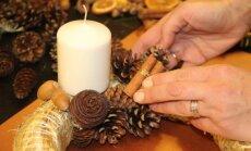 Florisčių pamokėlė: kaip pasigaminti tradicinį Advento vainiką