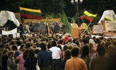 1988 06 24 Vilnius. LPS mitingas Katedros aikštėje