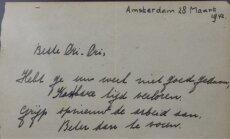 Aukcione parduotas Anne Frank eilėraštis