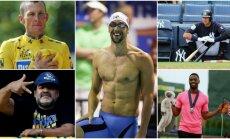 Lance'as Armstrongas, Diego Maradona, Michaelas Phelpsas, Alexas Rodriguezas ir Tysonas Gay (Reuters, AFP ir AP nuotr.)