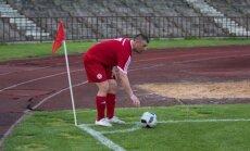 """""""Panevėžio"""" futbolo komandos rungtynių momentas."""