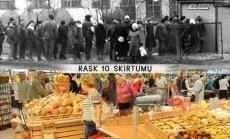 Eilė Jurbarke prie duonos tuomet ir prekybos centras Klaipėdoje šiandien