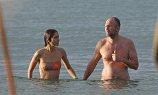 Rusų milijardierius Andrejus Melničenka su žmona Aleksandra