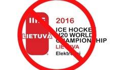 IIHF pasaulio jaunimo čempionato logotipe neįtiko žodis Lietuva