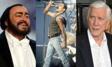 Luciano Pavarotti, Freddie Mercury, Leslie Nielsen