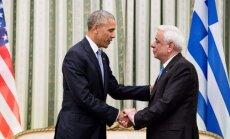 Barackas Obama ir Prokopis Pavlopoulos