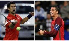 Novakas Djokovičius ir Cristiano Ronaldo (Reuters/AFP)
