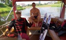 Marius Gaižauskas ant vandens slidžių