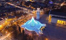 Kerintys vaizdai: Vilniaus eglutė iš paukščio skrydžio