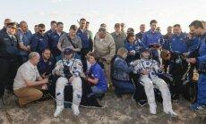Rusijos ir Prancūzijos astronautai grįžo į žemę