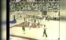 Daugiau nei krepšinis: mačas su NVS komanda, kurio lietuviai neturėjo teisės pralaimėti (unikalūs kadrai)