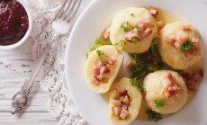 Šilkiniai bulvių kukuliai su šoninės įdaru
