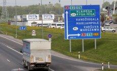 Magistralinis kelias Vilnius - Klaipėda ties Mega