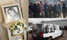 Ievos Strazdauskaitės laidotuvės