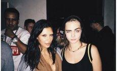Kim Kardashian ir Cara Delevingne