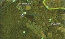 Velniakampio ežero apylinkių orientacinės trasos žemėlapis