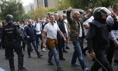 Varšuvos Legia klubo fanai Madride