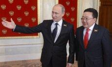 Vladimiras Putinas ir Mongolijos prezidentas Cachiagijinas Elbegdoržas