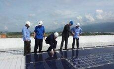 Lietuvių statyta saulės jėgainė Malaizijoje