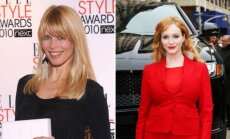 Claudia Shiffer ir Christina Hendricks