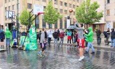 Talentų kovos Vilniuje per lietų