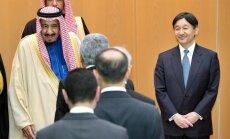 Saudo Arabijos karalius Salmanas ir Japonijos princas Naruhito