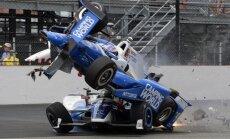 IndyCar 500 lenktynėse – kraupi avarija