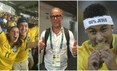 Brazilijos sirgaliai, žurnalistas Jaeci Carvalho ir Neymaras (J. Sarapo ir Reuters nuotr.)
