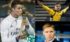 Cristiano Ronaldo, Fiodoras Černychas ir Edgaras Jankauskas (Reuters ir AP nuotr.)